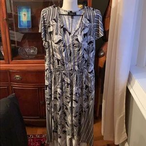 Lane Bryant black and white patterned dress